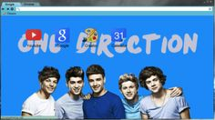 One Direction Blue Chrome Theme