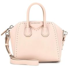 Givenchy Antigona Mini Leather Shoulder Bag (2 849 AUD) ❤ liked on Polyvore featuring bags, handbags, shoulder bags, givenchy, neutrals, pink handbags, genuine leather purse, givenchy purse, shoulder handbags and givenchy handbags