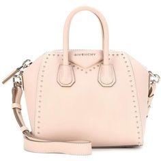 Givenchy Antigona Mini Leather Shoulder Bag ($2,010) ❤ liked on Polyvore featuring bags, handbags, shoulder bags, neutrals, givenchy handbags, pink purse, mini shoulder bag, mini handbags and givenchy purse