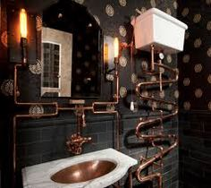 Steampunk furniture design ideas from cool to crazy. What do you think of Steampunk? What comes to mind is probably a cosplay girl in a leather corset and a circular skirt. The Steampunk furniture concep. Casa Steampunk, Steampunk Interior, Design Steampunk, Steampunk Furniture, Steampunk Home Decor, Steampunk Theme, Steampunk Makeup, Steampunk Drawing, Style Steampunk