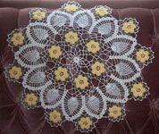 yellow rose crochet pattern | Crochet Floral Doily Patterns - Jacobsen Rose Doily Pattern