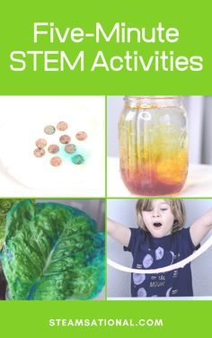 STEM activities (activities with elements of science, technology, engineering, and math) help children see that science and math can have a creative element, too. Try these quick STEM challenges when you don't have tons of time to plan! Earth Science Activities, Easy Science Projects, Apple Activities, Easy Science Experiments, Stem Projects, Science For Kids, Life Skills Classroom, Math Challenge, Kindergarten Lessons
