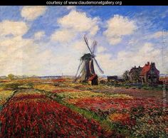 Field Of Tulips In Holland - Claude Oscar Monet - www.claudemonetgallery.org