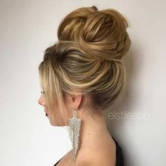 High Bun Wedding Long Hairstyle