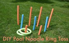 Dollar Tree DIY: Pool Noodle Ring Toss
