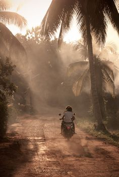 """500px / Photo """"leaving"""" by André Hengst  fog thailand motorbike"""