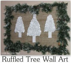 We're gonna take this idea and make ruffly Christmas tree ornaments today