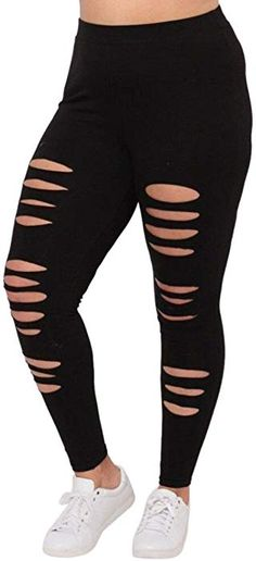 5c837a4da91460 Tootu Women Plus Size Elastic Leggings Solid Criss-Cross Hollow Out Sport  Pants (L, G) at Amazon Women's Clothing store: