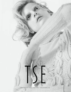 Guinevere van Seenus Gets Comfy for Tse's Fall 2012 Campaign by Yelena Yemchuk