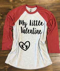 Hey, I found this really awesome Etsy listing at https://www.etsy.com/listing/263913191/my-little-valentine-baseball-style-shirt