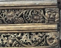 Green Man and Beast on a rood screen in St. Michael's Church, Mere, Wiltshire, England (photos Rex Harris)