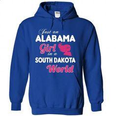An ALABAMA-SOUTH DAKOTA girl Pink04 - #birthday shirt #sweater for women. GET YOURS => https://www.sunfrog.com/States/An-ALABAMA-2DSOUTH-DAKOTA-girl-Pink04-RoyalBlue-Hoodie.html?68278