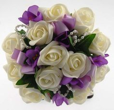 Bud Rose and Silk Purple Freesia's Bridesmaids Bouquet by sarahsflowers.co.uk, via Flickr  i like it but i want more purple