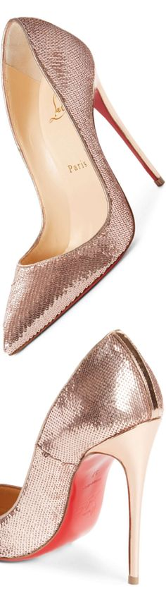 Christian Louboutin So Kate Sequin Pointy Toe Pump