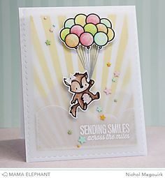 mama elephant stamps up and away | ... use the Up and Away Stamp Set with the Up and Away Creative Cuts dies