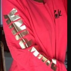 Red/dark coral off the shoulder PINK sweater Reddish/dark coral off the shoulder PINK sweater, new with out tag. Ordered online so it didn't come with a tag. Been hanging in my closet since I ordered it, the bottom is too tight for my body shape. Will add actual picture when I make it home this evening. PINK Victoria's Secret Sweaters Crew & Scoop Necks