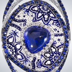 Close up of our Cosmo #ring #sicis #sicisjewels #jewelry #micromosaic #diamond #luxury #blue