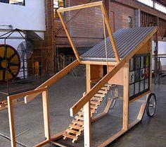 Nice chicken tractor design. Lots of chicken tractor/coop ideas here