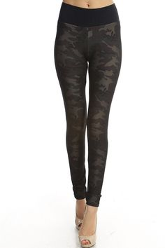 A New Clothing - Camouflage Print Leggings