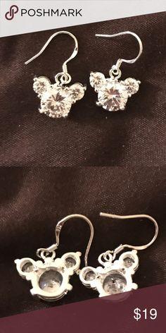 925 Silver Mickey Mouse Design Silver Earrings Size:10mm*10mm Jewelry Earrings