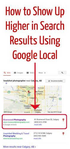 Show Up Higher In Search Results Using Google Local (via The Modern Tog)