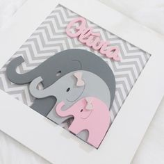 Baby Shawer, Baby Kind, Baby Shower Decorations For Boys, Baby Decor, Baby Crafts, Crafts For Kids, Kids Schedule, Elephant Nursery, Frame Crafts