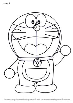 Learn How to Draw Doraemon (Doraemon) Step by Step : Drawing Tutorials Cartoon Drawing For Kids, Cartoon Pencil Drawing, Disney Art Drawings, Cartoon Drawings Disney, Pikachu Drawing, Barbie Drawing, Cute Cartoon Drawings, Easy Cartoon Drawings, Cartoon Drawings Sketches