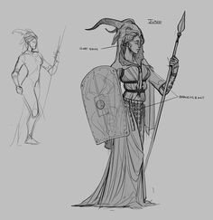 Ryse: Sword of Damocles | character design by Claire Hummel, via Behance