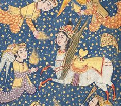 Indian Miniature Paintings: Al Buraq