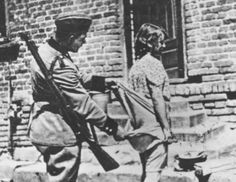 Russian soldier prepares to rape a German teen at the close of the war. German Women, German Girls, Mystery Of History, World War Ii, Photos, Pictures, Wwii, Crime, Soldiers