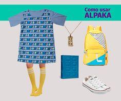 Look com a t-shirt dress com estampa Spoiler Stripes, inspirada em Dr. Who, feita por Sabrina Eras.   Compre a sua na loja www.alpaka.com.vc