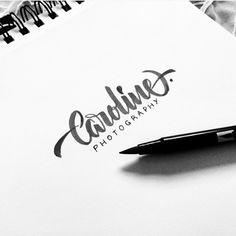 Caroline Photography. Sketch handlettering logo. #lettering #calligraphy #brushpen #tombow #handlettering #handtype #type #photo #photography #logo #tb