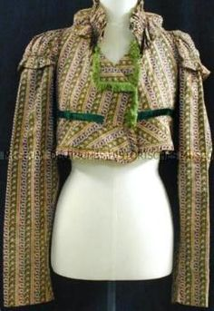 Jacket/ Spencer - 1805 Cotton, silk? trimmings, velvet German Historical Museum - DHM