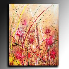 Flawer ABSTRACT PAINTING ACRYLIC Large Abstract 100x80 cm Fine Art Acrylic Abstract Coloured Modern Wall Art Acrylic canvas (225.00 GBP) by ArtStudioPainting999