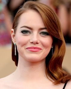 Emma Stone - click through for more of the best SAG Awards hair and makeup looks