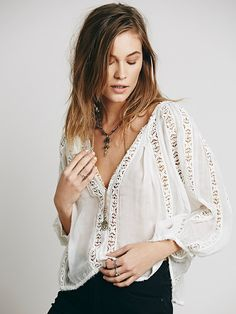 Free People FP ONE Flower Chain Top,