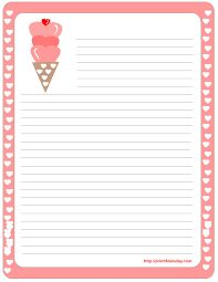 Love Stationery Template | Printable Daisy Stationery And Writing Paper Free Pdf Downloads