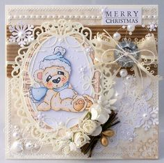 Cozy Christmas Bear from Magnolia stamps.