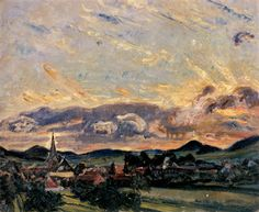 Sonnenuntergang in Godramstein (Sunset in Godramstein) - Max Slevogt German painter  1868-1932 Impressionism