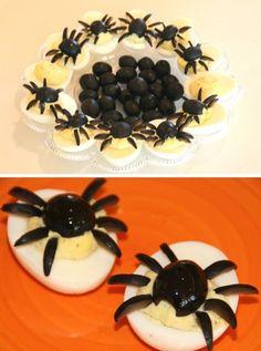 Halloween - Creepy Spider Deviled Eggs