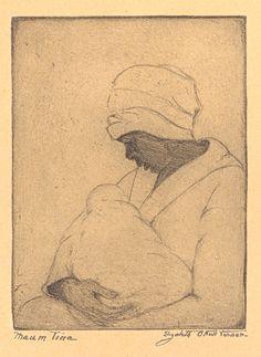 Etching, Maum Tina, by Elizabeth O'Neill Verner. Charleston Museum