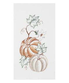Loving this Illustrated Pumpkin Dish Towel - Set of Two on #zulily! #zulilyfinds