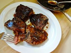 The Briny Lemon: Grilled Lamb Chops with Pomegranate-Bourbon Sauce