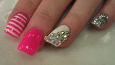 Acrylic Nail Designs Pictures Lovely How to Glitter Dip Nail Designs Nail Art Designs, Nail Designs Pictures, Acrylic Nail Designs, Nails Design, Acrylic Nails, Gel Nail Tips, Gel Nail Art, Nail Manicure, Nail Polishes