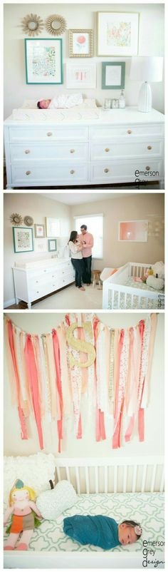 I like the idea of pictures over her changing table/dresser
