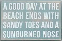 Day at the Beach Box Sign from Paper Source Could DIY with spray paint, wood board and sponge