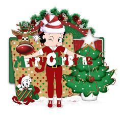 Image result for betty boop christmas eve
