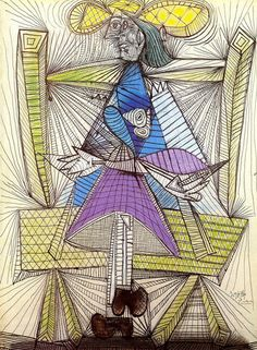 "Pablo Picasso - ""Seated Woman (Dora Maar)"". 1938"