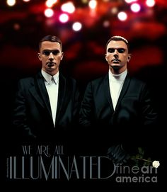 HURTS - We are all illuminated Print by ©ifourdezign #PopBand #AdamAnderson #TheoHutchcraft #DigitalPortrait #DigitalPainting #Photorealism #MusicFanArt #FineArtAmerica (Please retain ALL credit - TY)