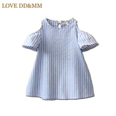Cheap girls dress for party, Buy Quality girls dress directly from China girls dresses for Suppliers: Blue Striped Baby Girl Dress for Party Girls Summer Dress Kids Clothes Off Shoulder Cotton Mini Dress Vestidos Mujer Kids Summer Dresses, Girls Casual Dresses, Dress Summer, Summer Kids, Summer Baby, Casual Clothes, Outfit Summer, Spring Summer, Fashion Kids
